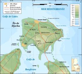 Carte topographique de l'île