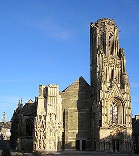 Photographie de la façade de l'église Notre-Dame de Saint-Lô