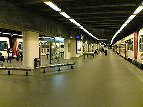 La gare au niveau des quais (26/09/06).