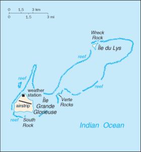 Carte des îles Glorieuses.