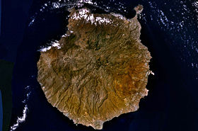 Image satellite de Grande Canarie.