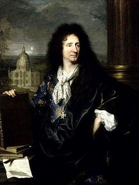 Jules Hardouin-Mansart. Portrait par Hyacinthe Rigaud. Château de Versailles.
