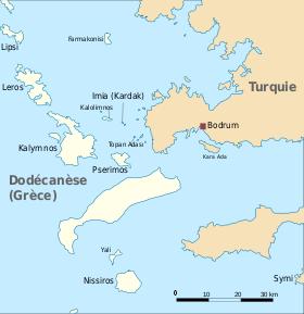 Localisation de Farmakonisi dans l'archipel