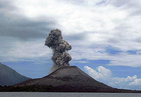 L'Anak Krakatau le 7février2008