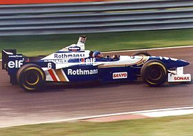 Chez Williams-Renault en 1996.