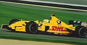 Au GP des États-Unis 2002 sur la Jordan-Honda.