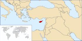 Localisation de Chypre