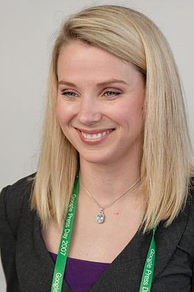 Marissa Mayer au Google Press Day en 2007