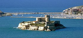 Le Château d'If vu de Marseille.