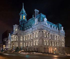 Hôtel de Ville de Montréal la nuit