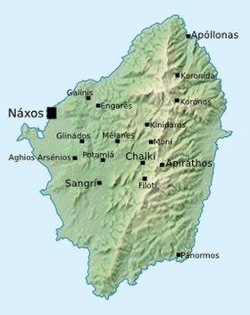 Carte de Naxos.