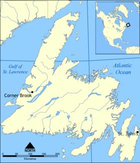 Carte de Terre-Neuve.