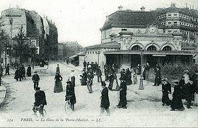 La gare au début du XXesiècle, du temps de la Ligne d'Auteuil