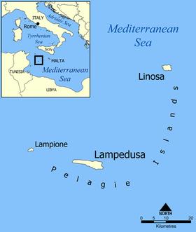 Lampedusa et les îles Pélages.