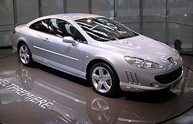 Une Peugeot 407 Coupé