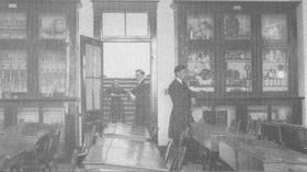 Classe de physique au Séminaire de Chicoutimi vers 1923