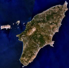 Vue satellite de Rhodes