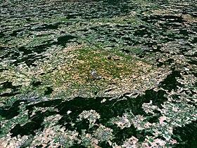 Image satellite de l'astroblème de Ries.