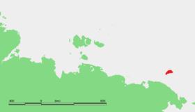 Localisation de l'île Wrangel.