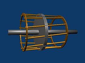 structure d'un rotor en cage d'�cureuil