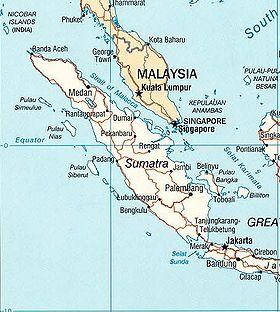 Carte de Sumatra