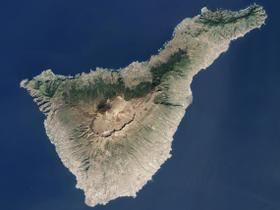 Image satellite de Ténérife.