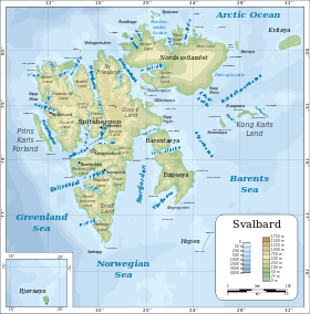 Carte du Svalbard.