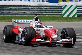 Olivier Panis au Grand Prix automobile des États-Unis 2004.