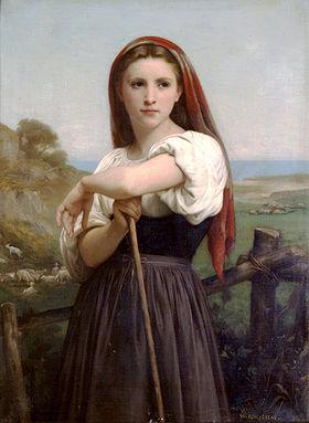 William Bouguereau, Jeune bergère, XIXesiècle)