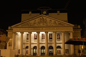 Façade actuelle du Théâtre de la Monnaie