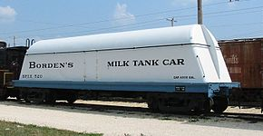 Wagon citerne destiné au transport du lait