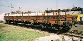 Wagon plat à bogies