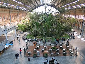 La gare d'Atocha et son jardin tropical