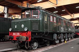 La 2D2 5516 à la Cité du train de Mulhouse.