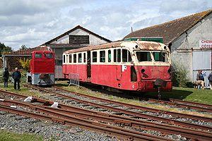 Autorail De Dion Bouton type OC1 de l'ACFCdN aux Chemins de fer des Côtes-du-Nord