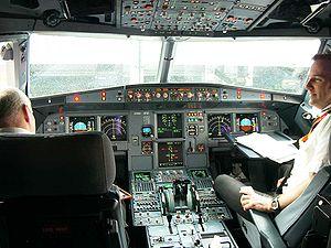 Cockpit de l'Airbus A319