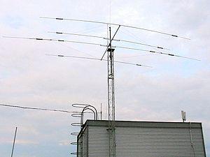 Une antenne de type 'yagi' appelée communément 'beam'