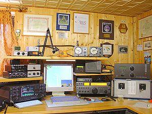 Le shack ou station d'un opérateur