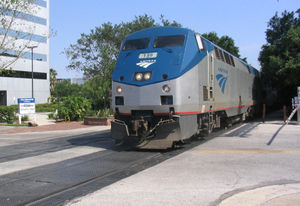 Train de l'Amtrak à Orlando, en Floride.