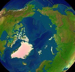 Photo satellite de la région arctique