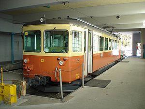 Be 4/4 23 du BLM en gare terminus de Mürren