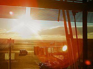 Levé de soleil vu depuis le Terminal 4