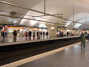 La station plaça Espanya