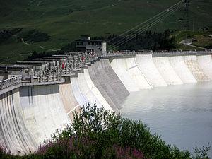 La barrage de la Girotte