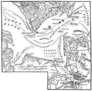 Carte de Hampton Roads