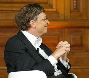 Bill Gates à La Sorbonne (Paris), en 2008.