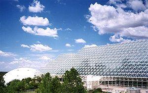 Biosphere 2, vue de l'extérieur