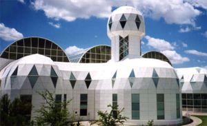 Biosphere 2 vue de l'extérieur