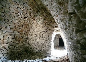 L'intérieur de la première borie