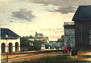 Henri BORREMANS Ligne de Bruxelles à la frontière de Prusse - Vue des Plans inclinés à Liège - 1843
